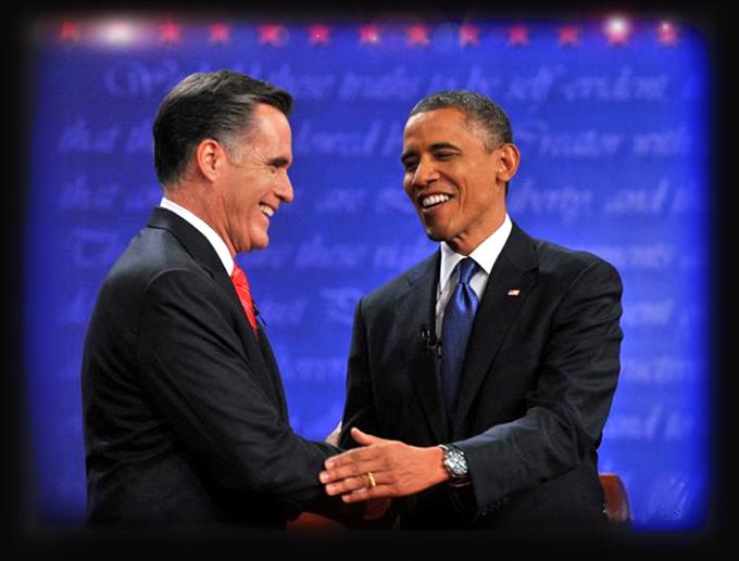 Obama and Romeny at debate