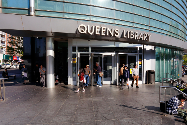 Queens LIbrary entrance
